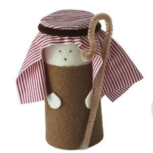 Shepherd: nativity scene to make from toilet-roll tubes - Christmas craft - allaboutyou.com