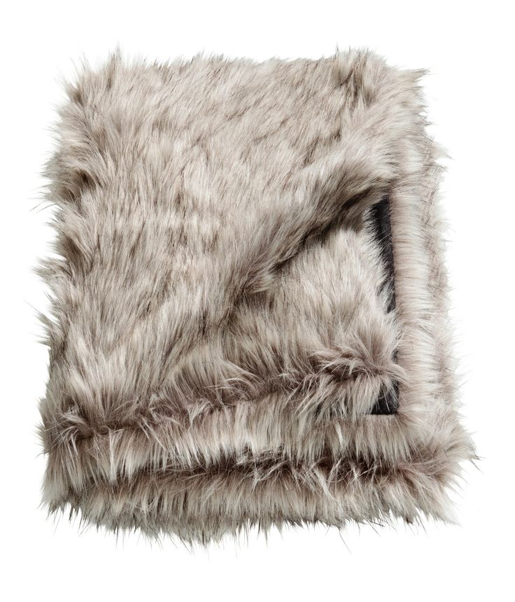 Check this out! Throw with long-haired faux fur at front and cotton canvas at back. - Visit hm.com to see more.