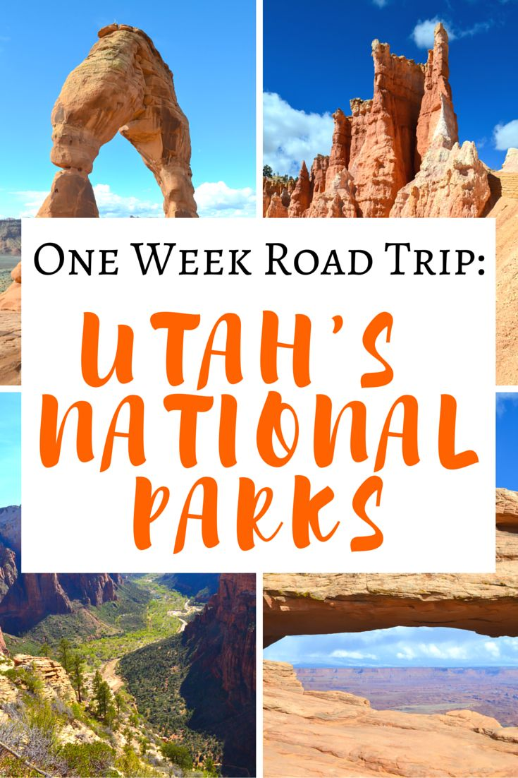 One Week Road Trip ITINERARY To ALL 5 of Utah's National Parks! >> fantastic itinerary and what to see in each one! Great Pin to save for later! | www.apassionandapassport.com