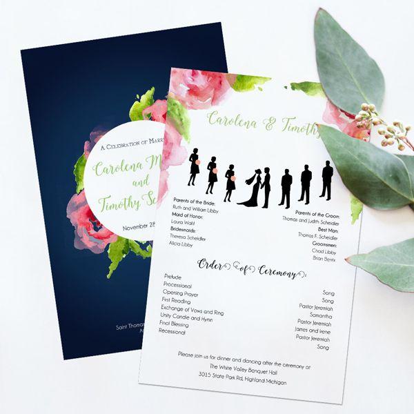 Best Wedding Programs Images On   Creative Wedding