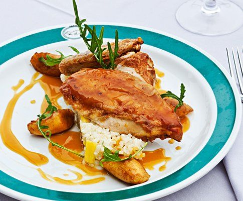 Poulet mit Passionsfrucht-Madeira-Sauce