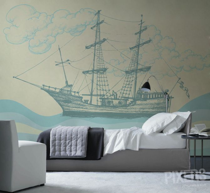 Wall Mural Cruise - inspiration wall mural, interiors gallery• PIXERSIZE.com