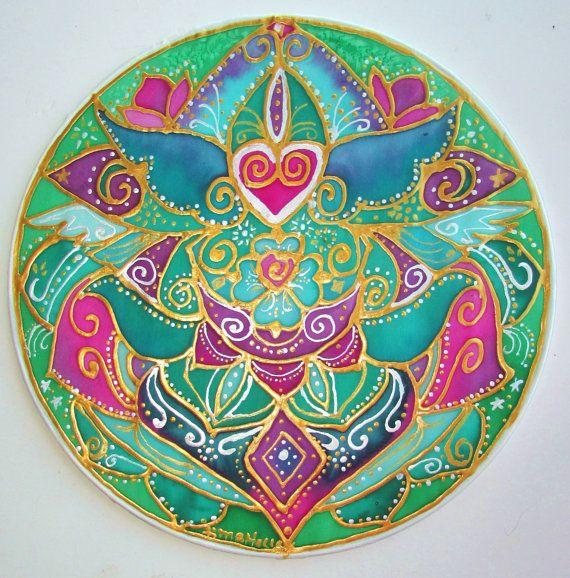 arte mandala arte, cuore Compasionate, yoga, spirituale arte chakra del cuore, arte di meditazione, nuova età, metafisico, pagana, dea, wiccan