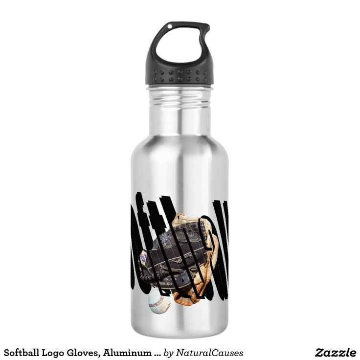 Softball Logo Gloves, Aluminum Water Bottle. 532 Ml Water Bottle