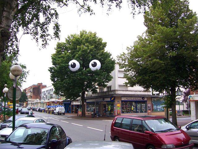Whimsical Street Art by Filthy Luker: Urban Art, Trees, Public Art, Art Attack, Filthyluker, Streetart, Eyes