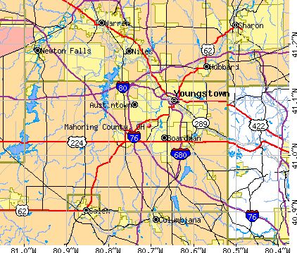 maps of mahoning valley, ohio | osm map general map google map msn map