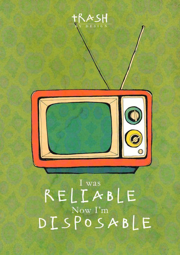 Trash by Design Poster Series by Skye Hamilton, via Behance