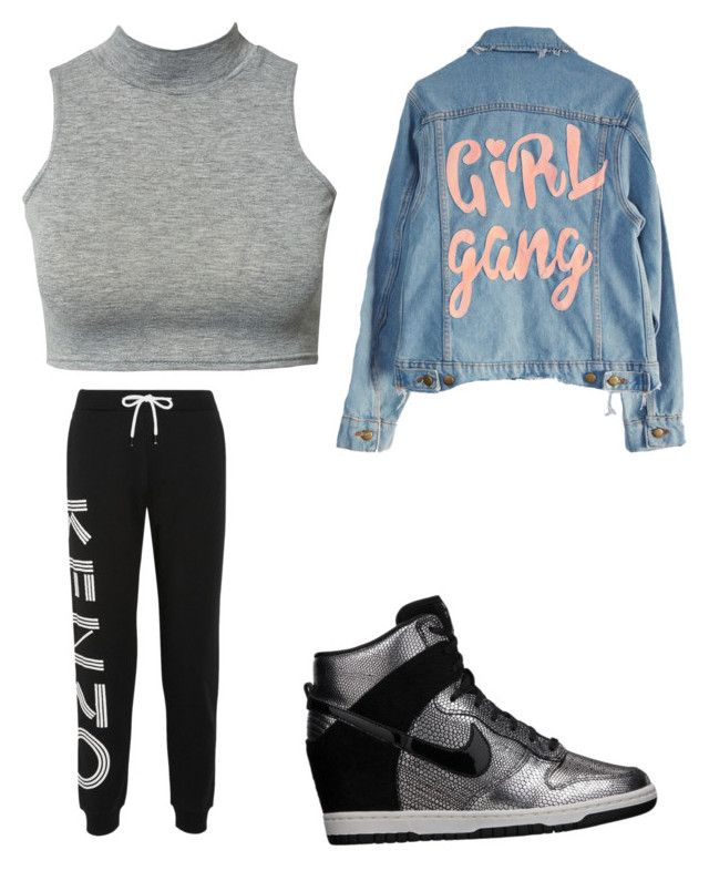 """""""Buon giorno girls"""" by moda-makeup ❤ liked on Polyvore featuring Kenzo, High Heels Suicide, Club L, NIKE, men's fashion and menswear"""