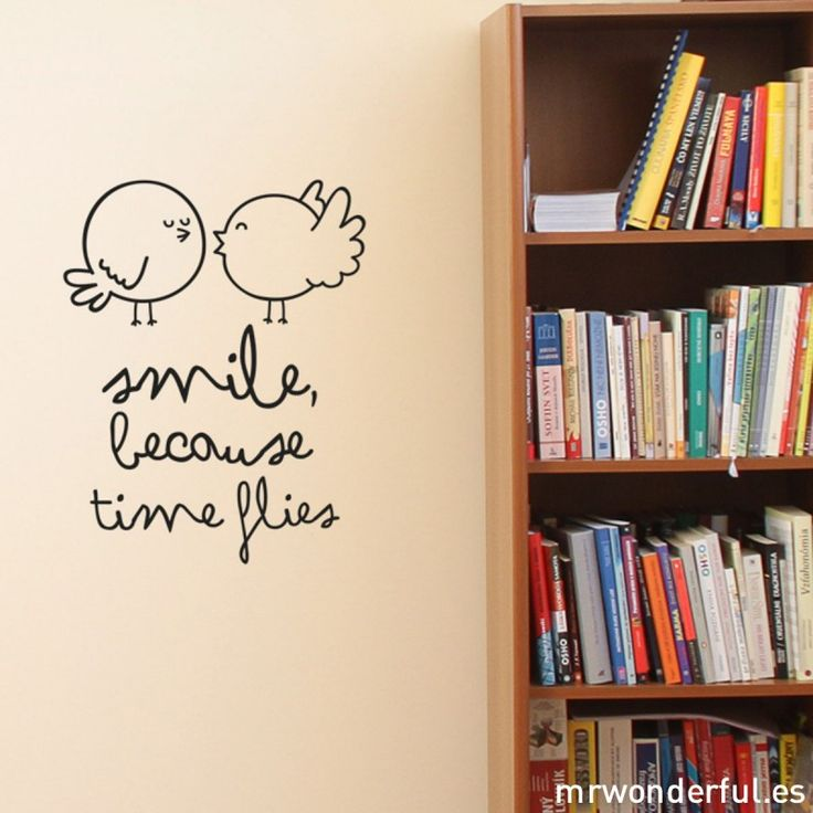 Smile because times flies - Wall decal