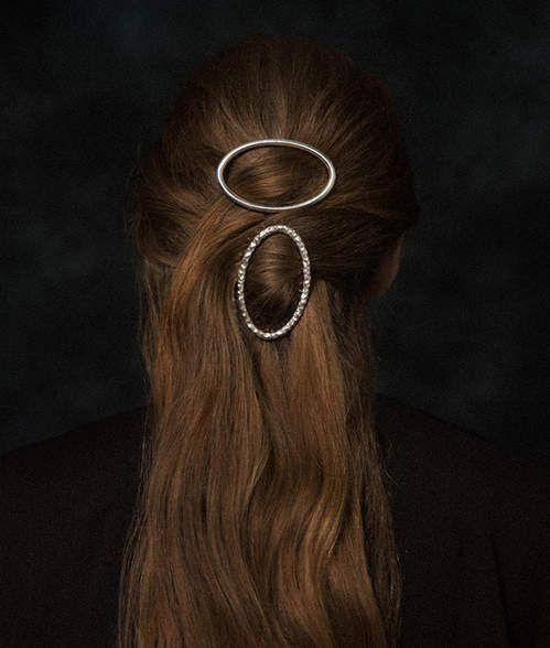 Hairclip Ellipse en argent d'All Blues