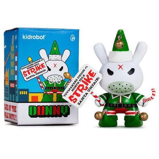 "Holiday Grumpy Elf 3"" Dunny (by Frank Kozik) Vinyl Figure from Kidrobot"