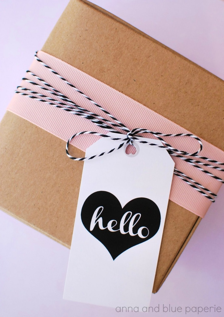 free printable parcel gift tags @Anna Totten and blue paperie