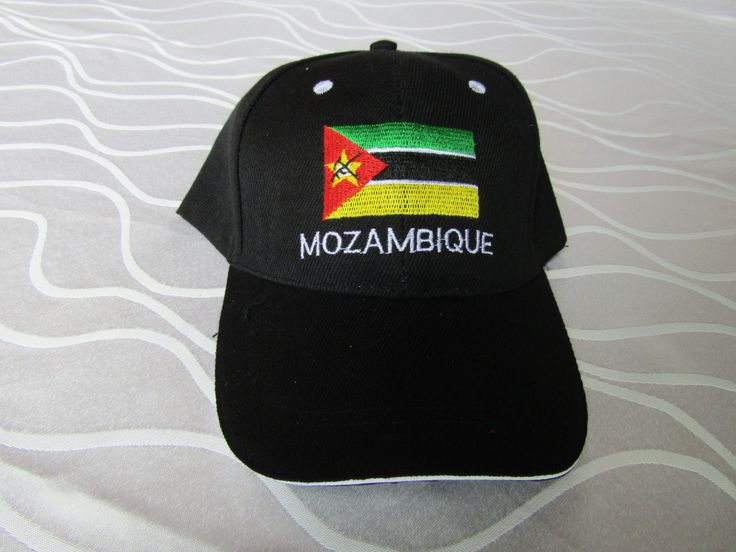 Cap printed with MOZAMBIQUE Flag/ MOZAMBIQUE Flag Cap/ Black cap/ Cap handmade of cotton fabric/ African hats/ African caps by handicraftafrica on Etsy