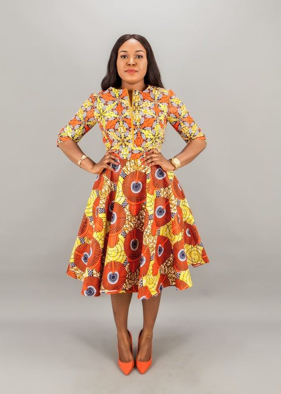 African clothing African handmade clothing,African mini dress with flared sleeve,Ankara dress clothing,dashiki dress,java print dress