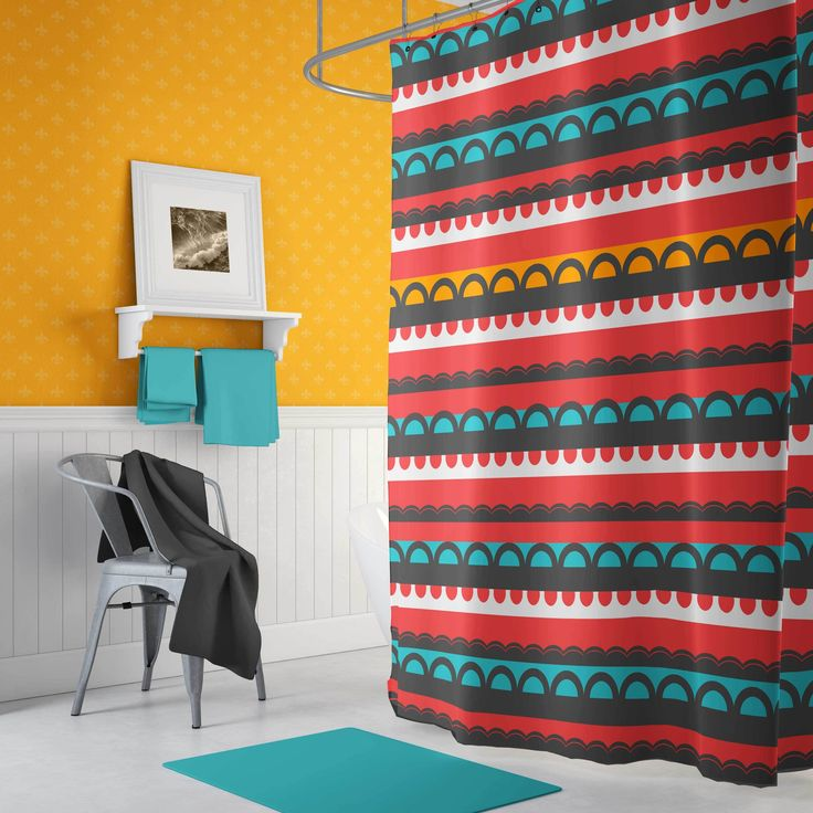 Scandinavian Shower Curtain