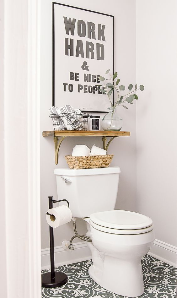 11 best Toilette images on Pinterest Bathroom, Restroom decoration - Comment Decorer Ses Toilettes