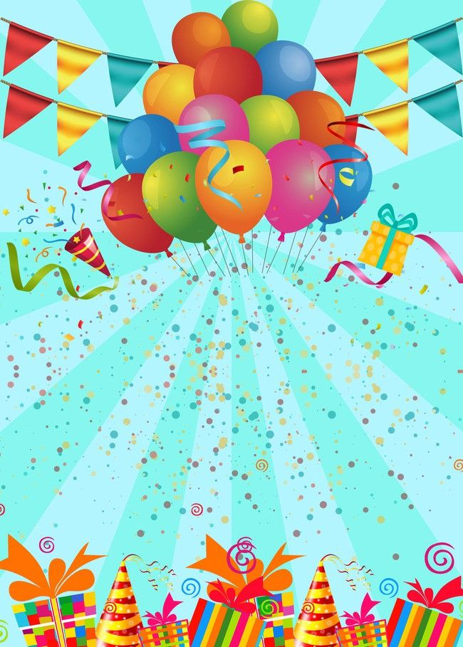 Birthday Party Poster Background Template Happy Birthday Posters