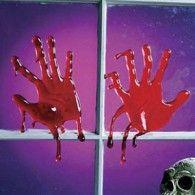 Window Cling Bloody Hands Gel $20.95 A220400