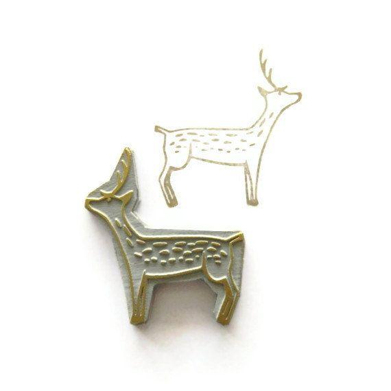 NEW Sweet Woodland Deer Rubber Stamp by Creatiate
