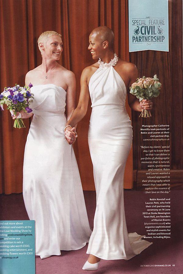 Roben + Lauren #CiviPartnership in #StokeNewington Town Hall - #Diva #magazine (October 13)