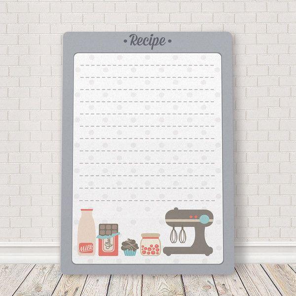 Recipe board mounted plaque
