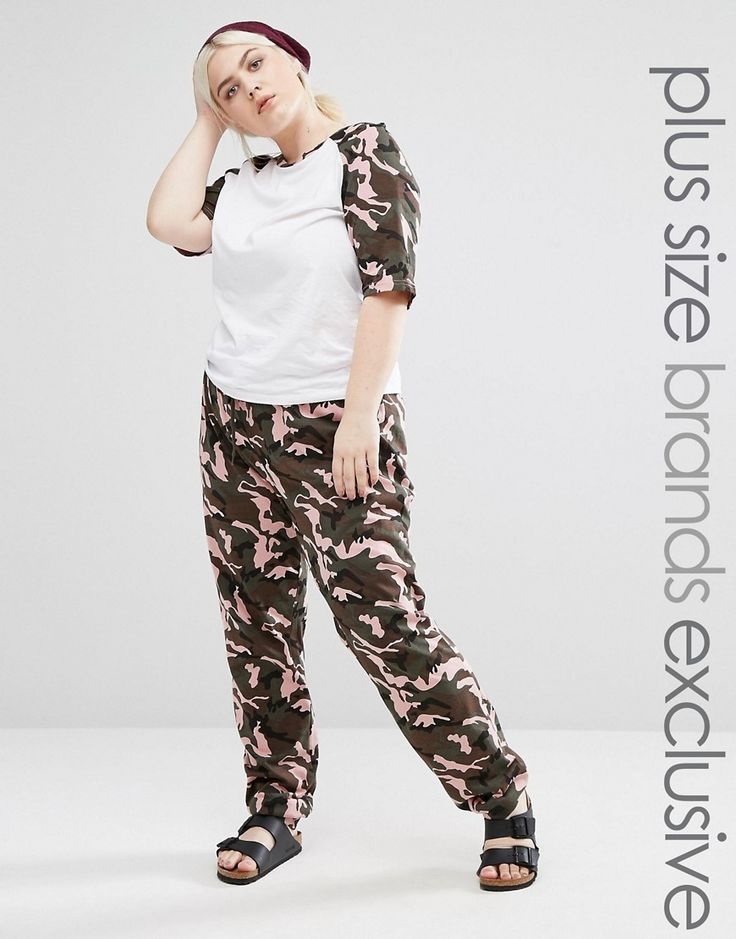 Buy it now. One Day Plus Slim Leg Jogger In Camo Print - Multi. Joggers by One Day Plus, Soft-touch knitted fabric, Camo print design, Drawstring waistband, Slim-cut leg, Regular fit - true to size, Machine wash, 95% Cotton, 5% Elastane, Our model wears a UK 18/EU 46/US 14 and is 173cm/5'8 tall, Exclusive to ASOS. ABOUT ONE DAY PLUS Designed with your comfort in mind, loungewear-loving label One Day's cool casual pieces are all kinds of cosy. Its slogan tees, relaxed fits and perfectly…