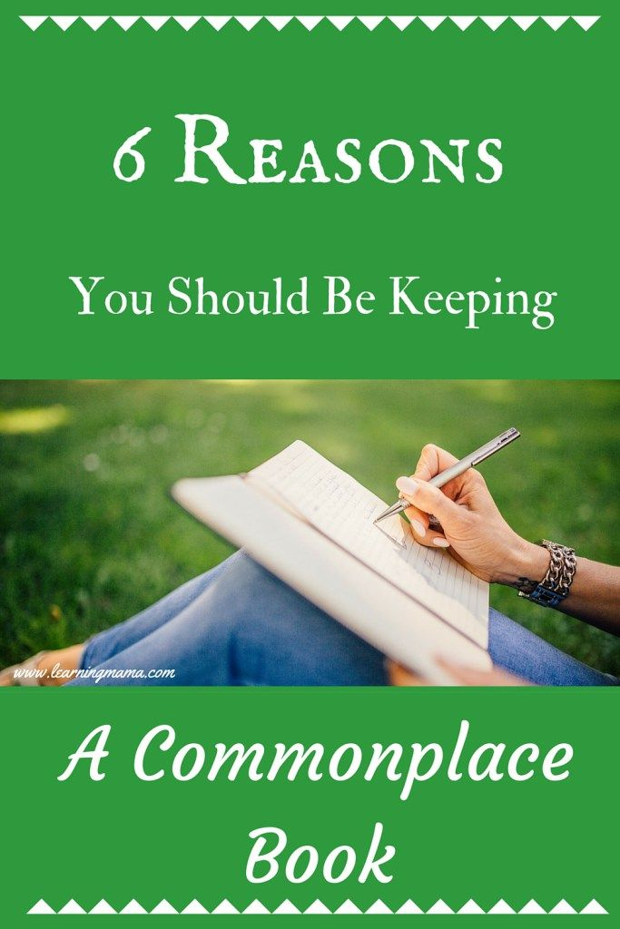 What is a commonplace book? Why should you be keeping one?                                                                                                                                                                                 More