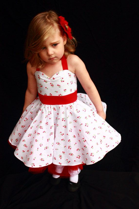 Cherry Rockabilly Dress by DarlingInDisguise on Etsy, $40.00