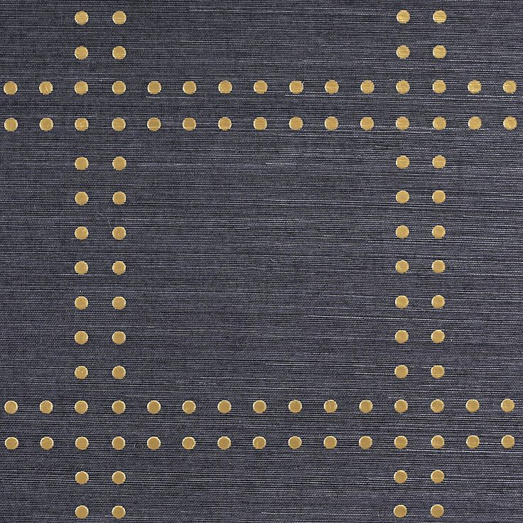 Phillip Jeffries Rivets Wallpaper- gold on navy Specialty & Metallic Rivets 5700 in Gold on Navy Manila Hemp