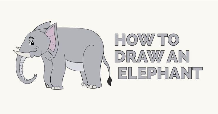 elephant how to draw easy