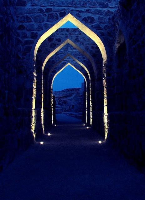 Shades of blue at Bahrain fort