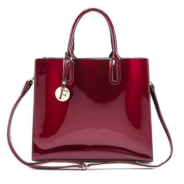 R J Handbags Online Women Quality Patent Leather Vintage Elegant Handbag Shoulder Bag Crossbody 86 Replica A Z Large