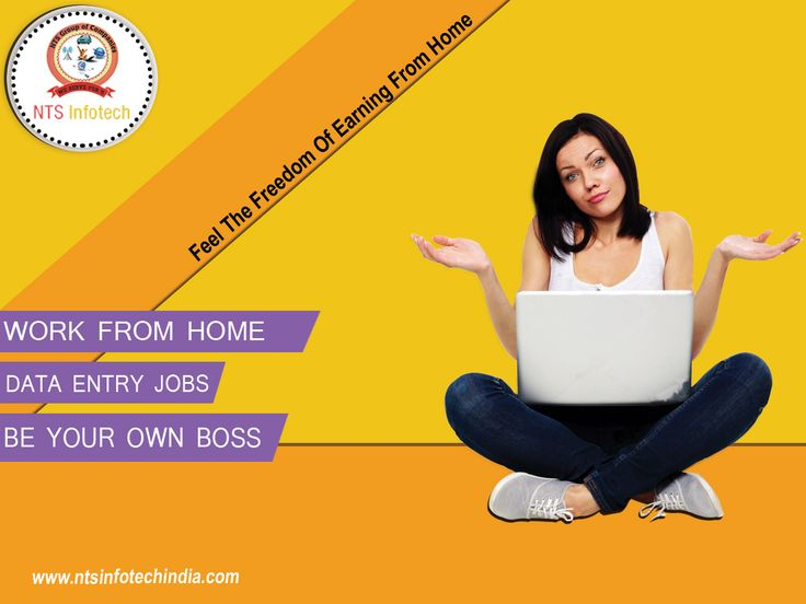 NTS Infotech Offers you to Data Eantry Jobs Work from home, Be your own Boss. For more visit- www.ntsinfotechindia.com