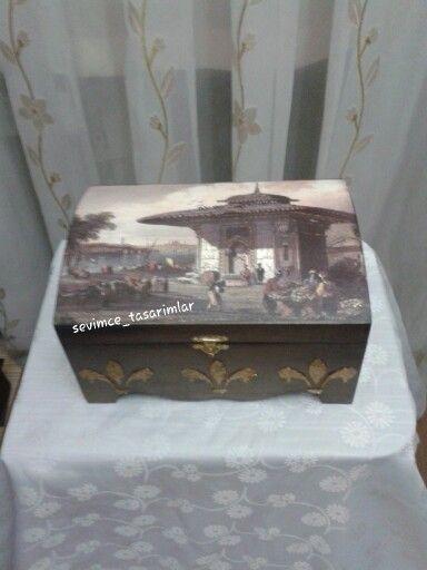 Ahşap boyama sandık eski İstanbul kolaytransfer