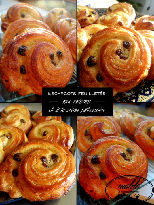 Escargots feuilletés aux raisins et à la crème pâtissière 1
