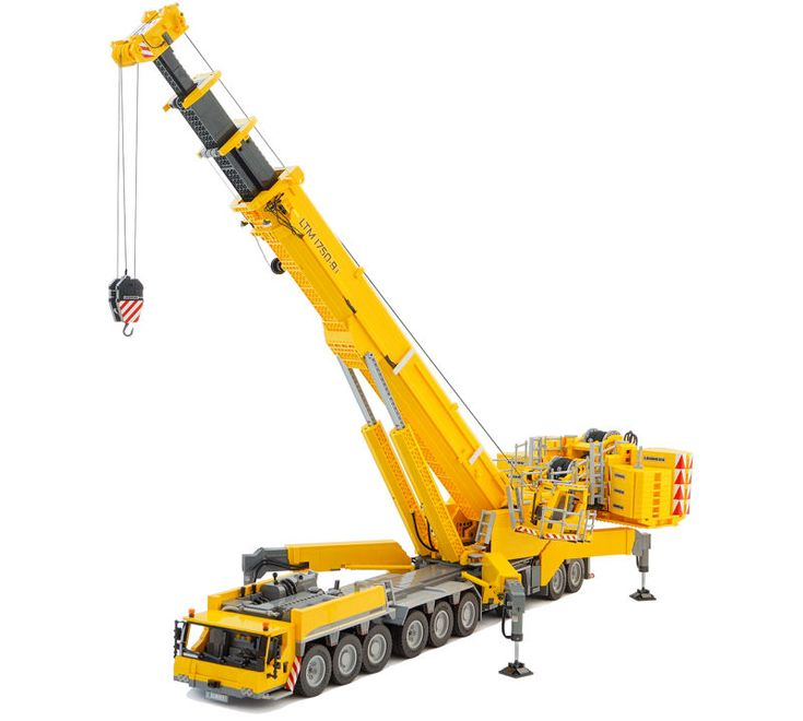 Mobile Crane Kje : This working wheel lego mobile crane is a straight up