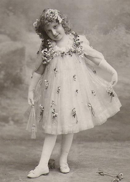 Girl in Pretty Dress edwardian post cards