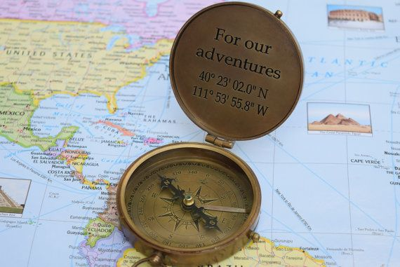 Personalized Compass Picture Compass Engraved by bestgifting