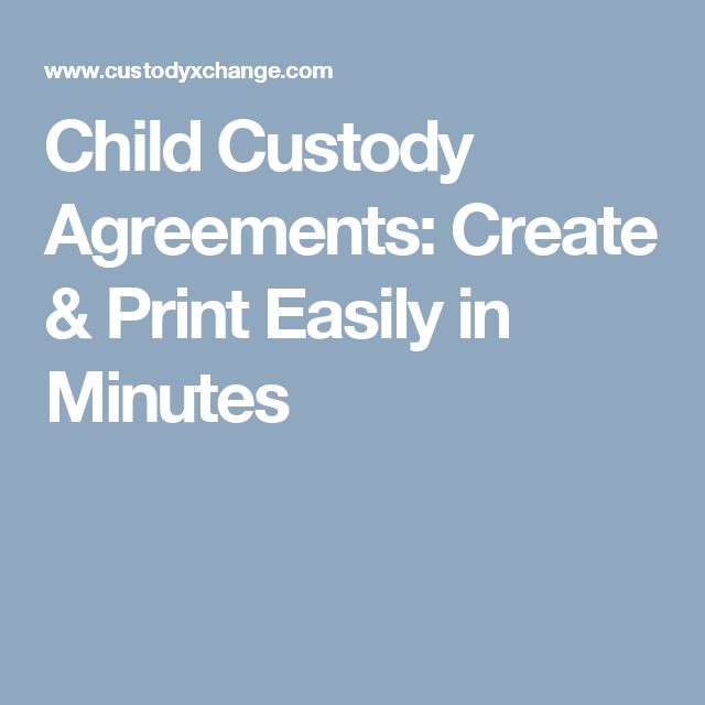 Child Custody Agreements: Create & Print Easily in Minutes