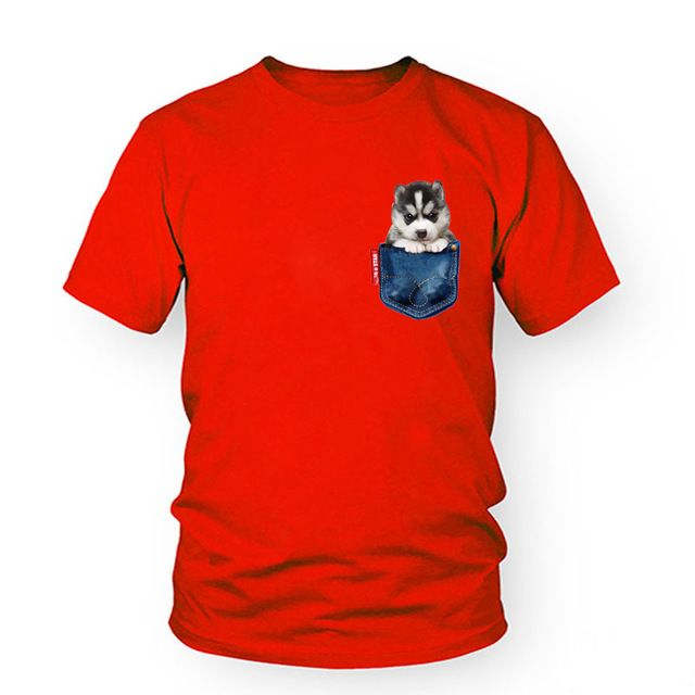 Pet Хаски Собака печати футболка женщины хлопок смешные футболки женщины повседневная футболка с коротким рукавом 2017 новая мода лето tee T-C11479