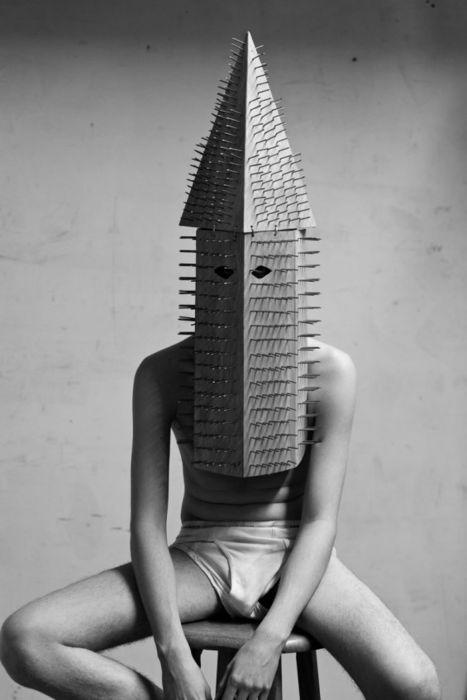 Disturbing Masked Art : KKK Hoods