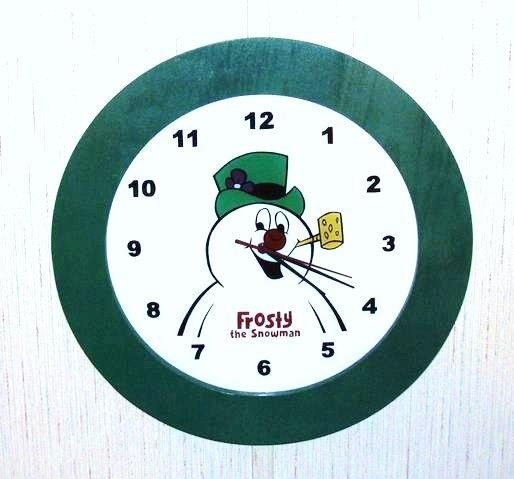 Handmade Christmas Clock With Frosty The Snowman by terririchard, $29.99
