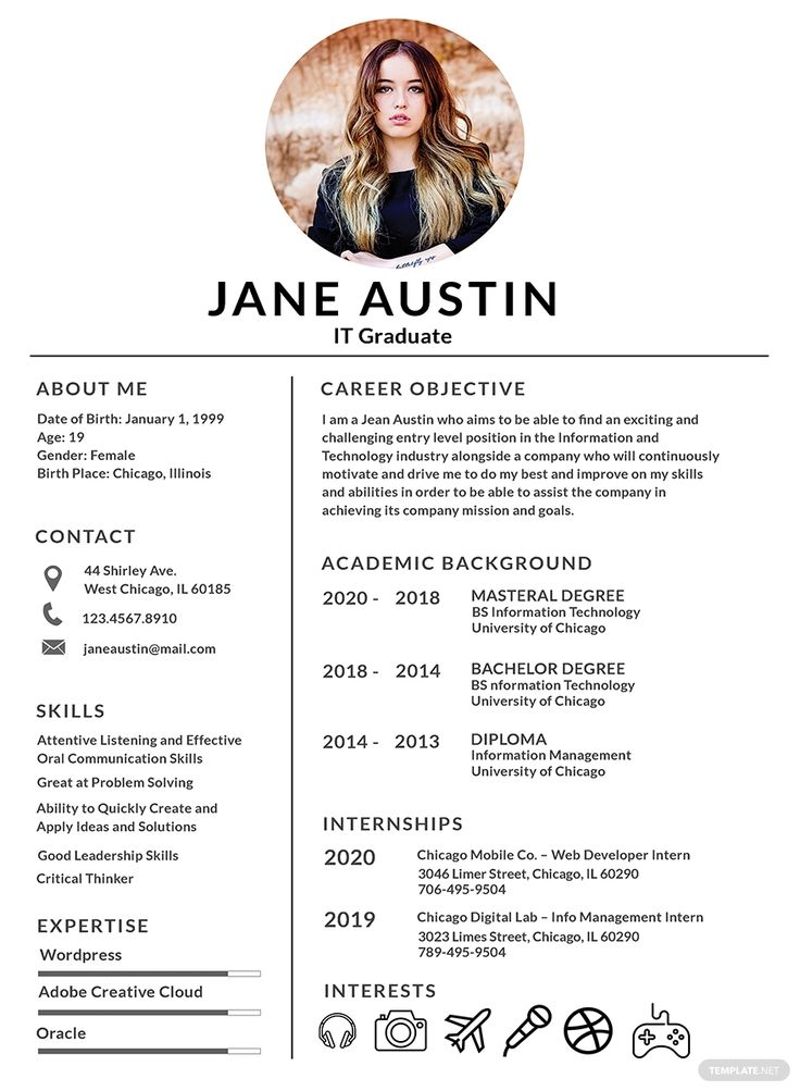 Free Basic Fresher Resume Template in 2020 Resume design