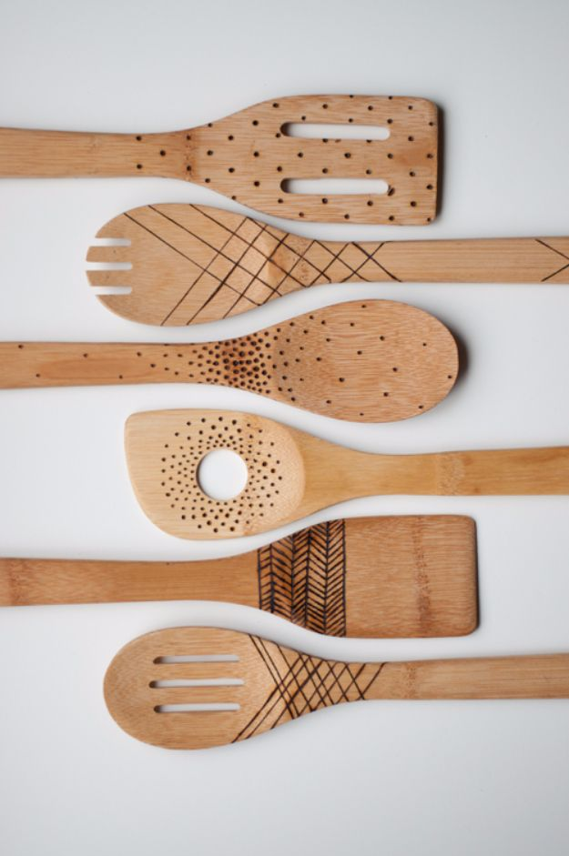 DIY Projects to Make and Sell on Etsy - Etched Wooden Spoons - Learn How To Make Money on Etsy With these Awesome, Cool and Easy Crafts and Craft Project Ideas - Cheap and Creative Crafts to Make and Sell for Etsy Shops http://diyjoy.com/crafts-to-make-and-sell-etsy