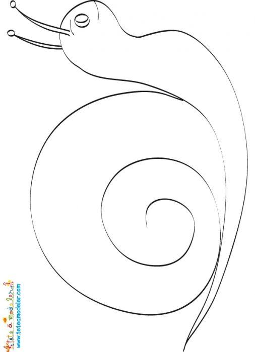 coloriage Dessin de l'escargot pour mosaïque