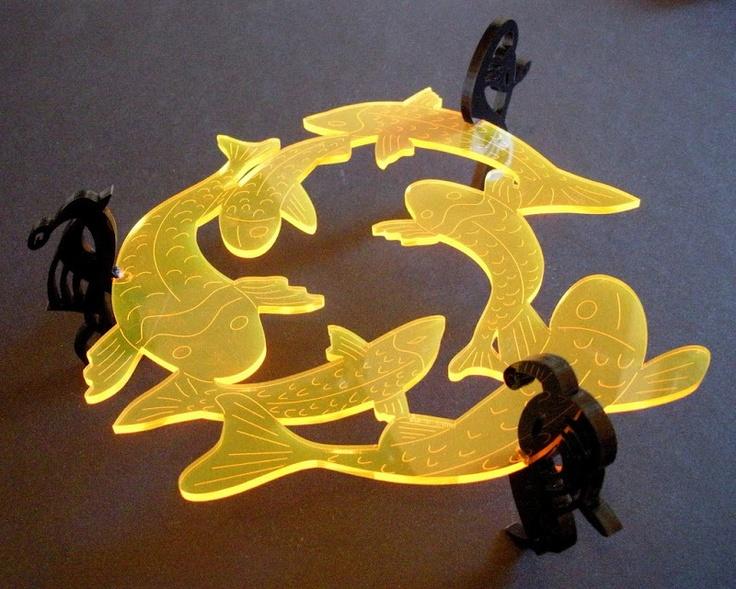 Koi Laser Cut From Acrylic By Trefoil Laser Cut