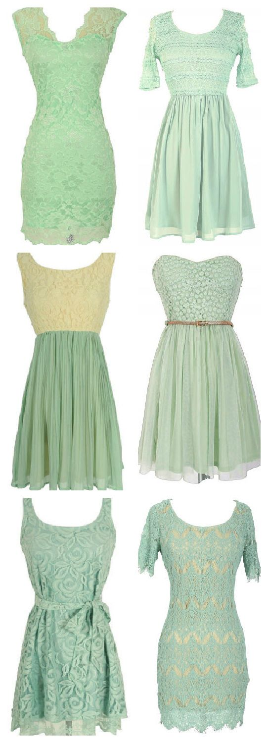 Mint Bridesmaid Dresses #mint #wedding #bridesmaids