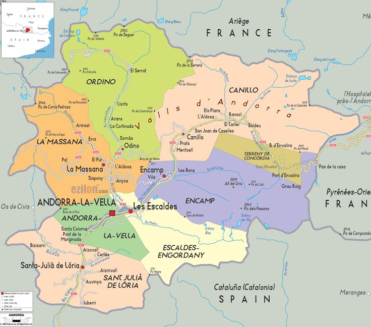 Best Maps Images On Pinterest History Maps And Cartography - Andorra clickable map