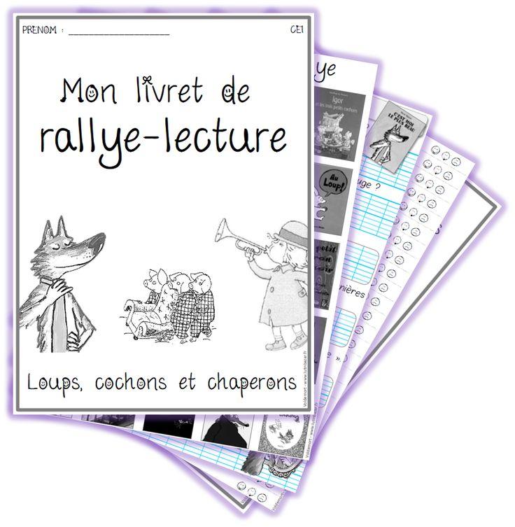 Rallye lecture : loups, cochons et chaperons - Chez Lutin Bazar Cool je les ai presque tous!!!