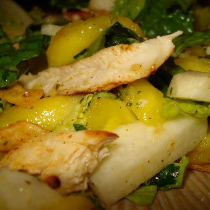 Chicken, Mango & Jicama Salad W Tequila-Lime Vinaigrette Recipe